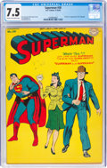 Golden Age (1938-1955):Superhero, Superman #30 (DC, 1944) CGC VF- 7.5 Cream to off-white pages....