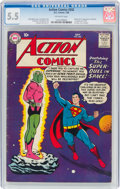 Silver Age (1956-1969):Superhero, Action Comics #242 (DC, 1958) CGC FN- 5.5 Off-white pages....