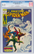 Silver Age (1956-1969):Superhero, The Amazing Spider-Man #74 (Marvel, 1969) CGC VF 8.0 Off-white to white pages....