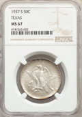 Commemorative Silver, 1937-S 50C Texas MS67 NGC. NGC Census: (106/9). PCGS Population: (137/1). CDN: $400 Whsle. Bid for problem-free NGC/PCGS MS...