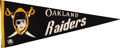 Football Collectibles:Others, 1960-62 Oakland Raiders American Football League Pennant. ...