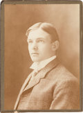 Autographs:Bats, 1900's Christy Mathewson Cabinet Photograph--Image Used for 1915 Cracker Jack Card!. ...