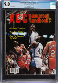 Basketball Collectibles:Publications, 1983-84 Michael Jordan ACC Basketball Handbook - CGC 9.0, Pop One with None Higher!...