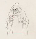 Animation Art:Production Drawing, Snow White and the Seven Dwarfs Old Hag with Apple Animation Drawing (Walt Disney, 1937). . ...