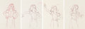 Animation Art:Production Drawing, Snow White and the Seven Dwarfs Animation Drawings Sequence of 4 (Walt Disney, 1937). . ... (...