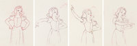 Snow White and the Seven Dwarfs Animation Drawings Sequence of 4 (Walt Disney, 1937). ... (Total: 4 Original Art)