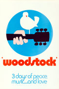 "Movie Posters:Rock and Roll, Woodstock (Warner Bros., 1970). Rolled, Very Fine+. One Sheet (27"" X 41"") ""Wilding"" Style C, Arnold Skolnick Artwork.. ..."
