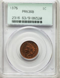 1876 1C PR63 Red and Brown PCGS. PCGS Population: (45/196). NGC Census: (23/126). CDN: $300 Whsle. Bid for problem-free...