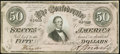 Confederate Notes:1864 Issues, T66 $50 1864 PF-3 Cr. 497 Very Fine.. ...