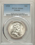 Commemorative Silver, 1918 50C Lincoln MS64 PCGS. PCGS Population: (2482/2066). NGC Census: (1870/1482). MS64. Mintage 100,058. ...