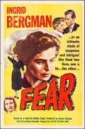"Movie Posters:Foreign, Fear (Astor, 1956). Folded, Very Fine. One Sheet (27"" X 41""). Foreign.. ..."