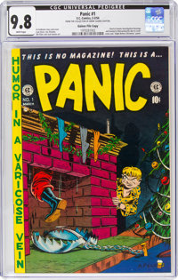 Panic #1 Gaines File Copy 9/12 (EC, 1954) CGC NM/MT 9.8 White pages