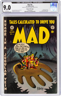 MAD #6 Gaines File Copy 9/12 (EC, 1953) CGC VF/NM 9.0 White pages