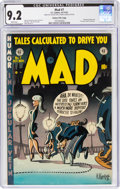 Golden Age (1938-1955):Humor, MAD #7 Gaines File Copy 9/12 (EC, 1953) CGC NM- 9.2 White pages....