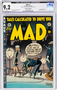 MAD #7 Gaines File Copy 9/12 (EC, 1953) CGC NM- 9.2 White pages