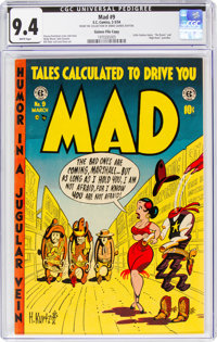 MAD #9 Gaines File Copy 9/12 (EC, 1954) CGC NM 9.4 White pages