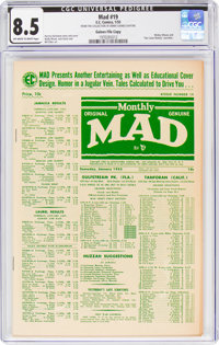 MAD #19 Gaines File Copy 6/9 (EC, 1955) CGC VF+ 8.5 Off-white to white pages