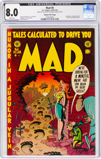 MAD #8 Gaines File Copy 9/12 (EC, 1953) CGC VF 8.0 White pages