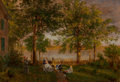 Paintings, Edward Lamson Henry (American, 1841-1919). Homestead, 1874. Oil on canvas. 9-3/4 x 14-3/4 inches (24.8 x 37.5 cm). Signe...