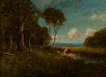 Fine Art - Painting, American, William Keith (American, 1838-1911). A Summer's Day. Oil on canvas. 22 x 30 inches (55.9 x 76.2 cm). Signed and inscribe...