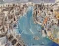 Fine Art - Work on Paper, Vaclav Vytlacil (American, 1892-1984). Canal, 1956. Mixed media on paper. 24 x 31-3/8 inches (61.0 x 79.7 cm) (sheet). S...
