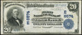 National Bank Notes:Pennsylvania, Turtle Creek, PA - $20 1902 Plain Back Fr. 650 First National Bank Ch. # (E)6574 Fine-Very Fine.. ...
