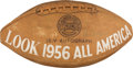 Football Collectibles:Balls, 1956 Look All American Team Signed Football - With Brown, Hornung, etc....
