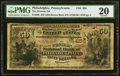 National Bank Notes:Pennsylvania, Philadelphia, PA - $50 1882 Brown Back Fr. 508 The Western National Bank Ch. # 656 PMG Very Fine 20.. ...