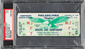 Football Collectibles:Others, 1960 NFL Championship Full Ticket, PSA VG 3 - Packers vs. Eagles. ...