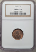 1912-S 1C MS62 Red and Brown NGC. NGC Census: (18/221). PCGS Population: (23/501). Mintage 4,431,000