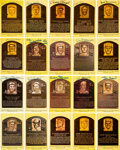 Autographs:Post Cards, 1960's-2000's Signed Hall of Fame Plaque Postcards Lot of 135....