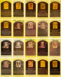 1960's-2000's Signed Hall of Fame Plaque Postcards Lot of 135