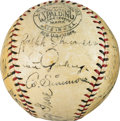 Autographs:Baseballs, 1931 Tour of Japan Team Signed Baseball....