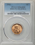 Lincoln Cents, 1941 1C Doubled Die Obverse, FS-102, MS64 Red PCGS. (018.1). PCGS Population: (4/9). NGC Census: (4/2)....