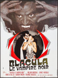 "Movie Posters:Blaxploitation, Blacula (Warner Brothers, 1972). Folded, Very Fine+. French Moyenne (22.75"" X 30.5""). Blaxploitation.. ..."