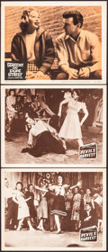 """Movie Posters:Exploitation, Devil's Harvest & Other Lot (Continental, 1942). Very Fine-. Lobby Cards (3) (11"""" X 14"""") & Locally Produced Mini Poster (11.... (Total: 4 Items)"""
