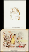 """Movie Posters:Animation, Snow White and the Seven Dwarfs (RKO, 1937). Overall: Fine/Very Fine. Color Glos Photo & Photo (8"""" X 10""""). Animation.. ... (Total: 2 Items)"""