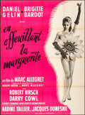 """Movie Posters:Foreign, Mademoiselle Striptease (Les Films Corona, 1956). Folded, Fine. French Grande (45.5"""" X 61.5""""). Foreign.. ..."""