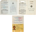 Olympic Collectibles:Autographs, 1958-93 Patricia McCormick Passports Lot of 3....