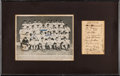 Autographs:Others, 1934 New York Giants Team Signed Display....