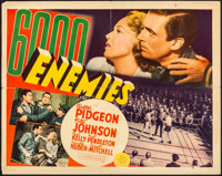 "6000 Enemies (MGM, 1939). Folded, Fine+. Trimmed Half Sheet (22"" X 27.75""). Crime"