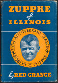 Football Collectibles:Publications, 1937 Red Grange Signed Zuppke of Illinois Hardcover Book....
