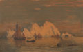 Paintings, William Bradford (American, 1823-1892). Off the Coast of Labrador, circa 1880s. Oil on canvas. 20 x 30 inches (50.8 x 76...