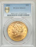Liberty Double Eagles, 1903 $20 MS64+ PCGS....