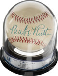 Autographs:Baseballs, 1942-45 Babe Ruth Single Signed Baseball, Beckett Auto 7....