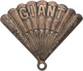 Baseball Collectibles:Others, 1927 New York Giants Silver Season Pass....