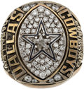 Football Collectibles:Others, 1992 Dallas Cowboys Super Bowl XXVII Championship Staff Ring....