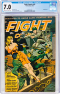 Golden Age (1938-1955):War, Fight Comics #33 (Fiction House, 1944) CGC FN/VF 7.0 Cream to off-white pages....