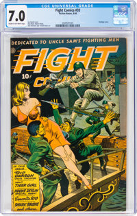 Fight Comics #33 (Fiction House, 1944) CGC FN/VF 7.0 Cream to off-white pages