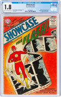 Silver Age (1956-1969):Superhero, Showcase #4 Flash (DC, 1956) CGC GD- 1.8 Light tan to off-white pages....